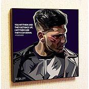 Подарки к праздникам handmade. Livemaster - original item Picture poster Pop Art Punisher. Handmade.