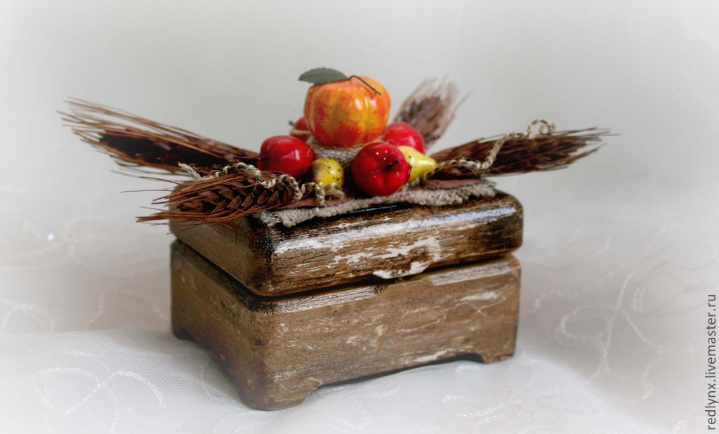 Jewelry box for rings 'Autumn wedding', Tablecloths, St. Petersburg, Фото №1