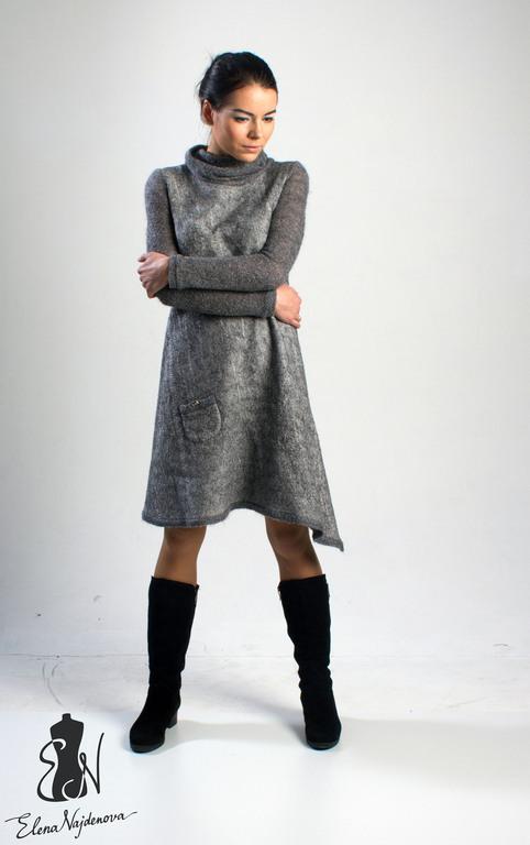 """Платья ручной работы. Ярмарка Мастеров - ручная работа. Купить авторское платье """"Gray """". Handmade. Серый, авторское платье"""