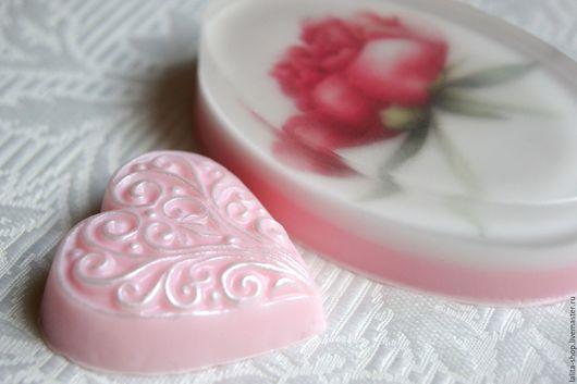 """Мыло ручной работы. Ярмарка Мастеров - ручная работа. Купить Набор мыла """"Пион"""". Handmade. Розовый, мыло ручной работы"""
