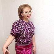 Одежда ручной работы. Ярмарка Мастеров - ручная работа Ягодно- цветочный джемпер. Handmade.