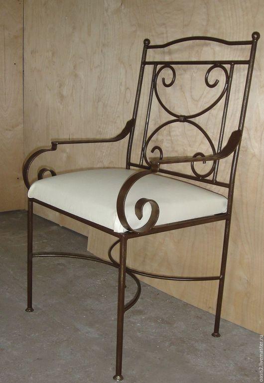 Мебель ручной работы. Ярмарка Мастеров - ручная работа. Купить Стул-кресло кованое. Handmade. Белый, мебель для дома