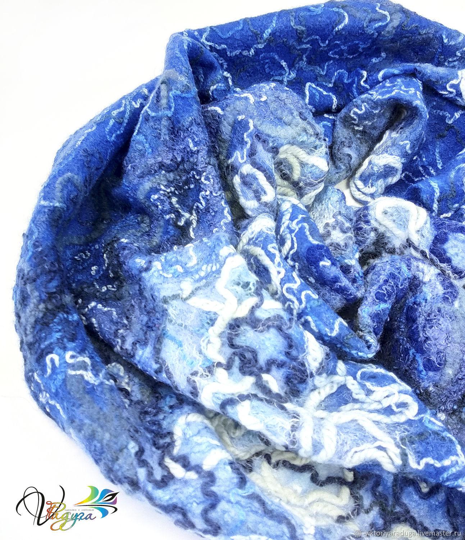 Snood scarf Blue caprice-felt, Snudy1, Slavsk,  Фото №1