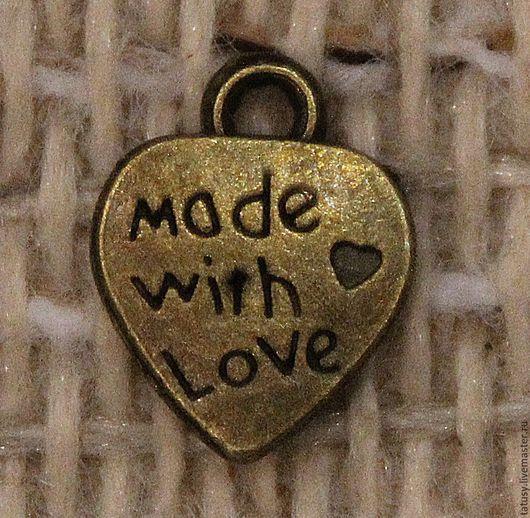 Для украшений ручной работы. Ярмарка Мастеров - ручная работа. Купить Подвеска Сердце малое бронза. Handmade. Бронзовый