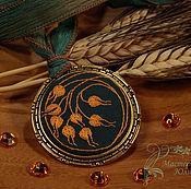 Украшения handmade. Livemaster - original item Embroidered pendant Aura. Handmade.