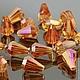 Бусины стеклянные граненые формы Конус со специальной обработкой cristallized розового оттенка для сборки украшений