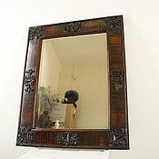 Винтаж ручной работы. Ярмарка Мастеров - ручная работа Зеркало в деревянной раме Гладь, 80-е. Handmade.