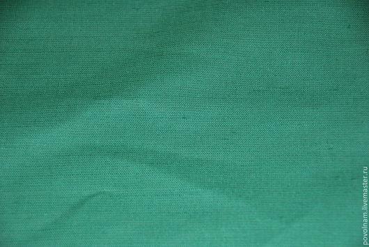 """Шитье ручной работы. Ярмарка Мастеров - ручная работа. Купить Лён-хлопок """"Папоротник"""" мягкий. Handmade. Зеленый, ткань для Тильды"""