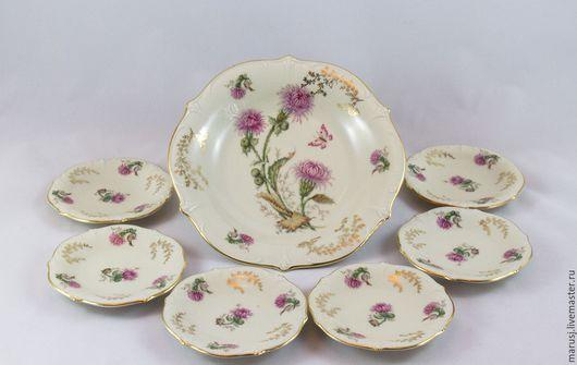 Винтажная посуда. Ярмарка Мастеров - ручная работа. Купить Набор тарелок для десерта. Handmade. Бежевый, винтажная посуд