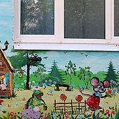 Картины и панно ручной работы. Ярмарка Мастеров - ручная работа Роспись стены в детском саду. Handmade.