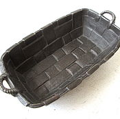 Винтаж handmade. Livemaster - original item Antique Basket Ashtray decor, Vintage Style Cast iron as Kasli Kusa. Handmade.