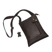 Сумки и аксессуары handmade. Livemaster - original item Men`s bag: Men`s brown leather bag