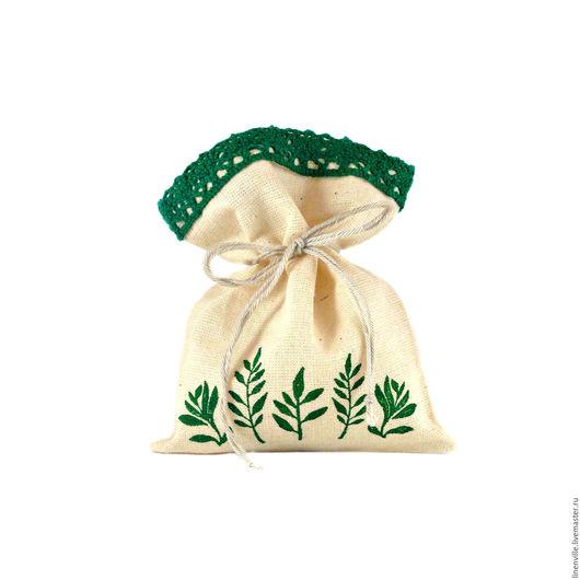 Подарочная упаковка ручной работы. Ярмарка Мастеров - ручная работа. Купить 10 мешочков Флора с кружевом. Handmade. Бежевый, флора