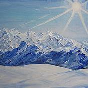 Картины и панно ручной работы. Ярмарка Мастеров - ручная работа Картина Снежные вершины. Handmade.