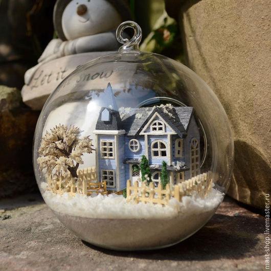 Кукольный дом ручной работы. Ярмарка Мастеров - ручная работа. Купить Румбокс (дом в шаре, миниатюра) для самостоятельной сборки. Handmade.