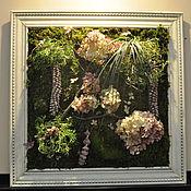"""Картины и панно ручной работы. Ярмарка Мастеров - ручная работа Фитокартина """"Прованс"""" из стабилизированнгых растений. Handmade."""