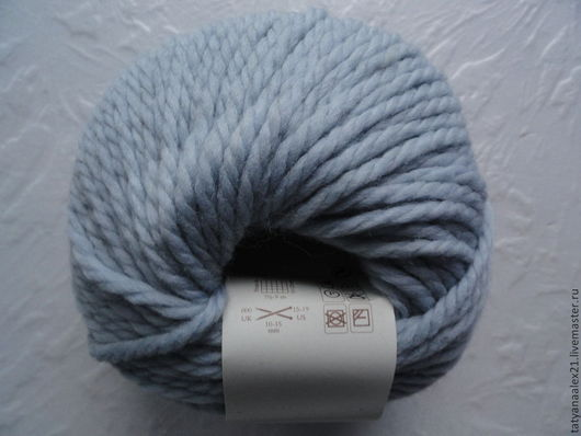 Вязание ручной работы. Ярмарка Мастеров - ручная работа. Купить Пряжа Rowan Big Wool № 021 Ice Blue. Handmade.