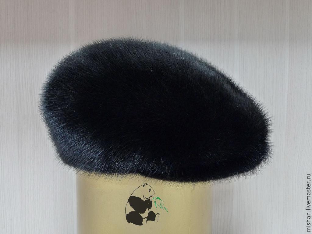 Cap fur Finnish mink. Mens fur soft cap CLASSIC, Caps1, Ekaterinburg,  Фото №1
