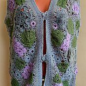 Одежда ручной работы. Ярмарка Мастеров - ручная работа Вязанная безрукавка, ирландское кружево. Handmade.
