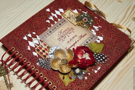 Блокноты ручной работы. Ярмарка Мастеров - ручная работа. Купить Книга пожеланий. Handmade. Подарок на свадьбу, свадебный подарок