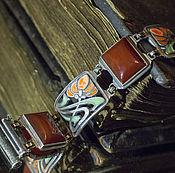 Украшения ручной работы. Ярмарка Мастеров - ручная работа Браслет серебро В полях тюльпанов. Handmade.