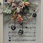 Картины и панно ручной работы. Ярмарка Мастеров - ручная работа Музыкально-цветочный этюд. Handmade.