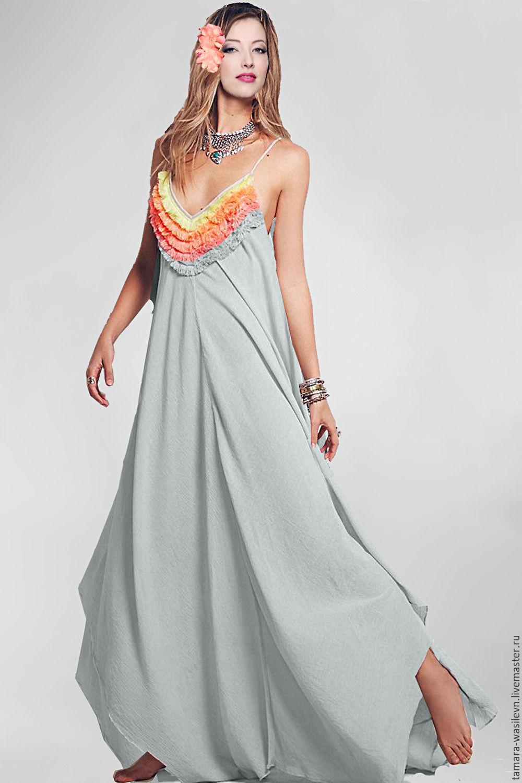 Как сшить платье из плотного льна белого