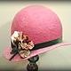 """Шляпы ручной работы. Ярмарка Мастеров - ручная работа. Купить шляпка """"Весна"""" резерв. Handmade. Розовый, авторская ручная работа"""