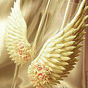 """Свадебный салон ручной работы. Ярмарка Мастеров - ручная работа Свадебные бокалы """"На крыльях любви..."""". Handmade."""