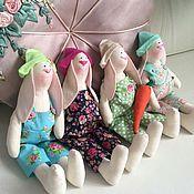 Куклы и игрушки ручной работы. Ярмарка Мастеров - ручная работа Кролики в стиле тильда. Handmade.