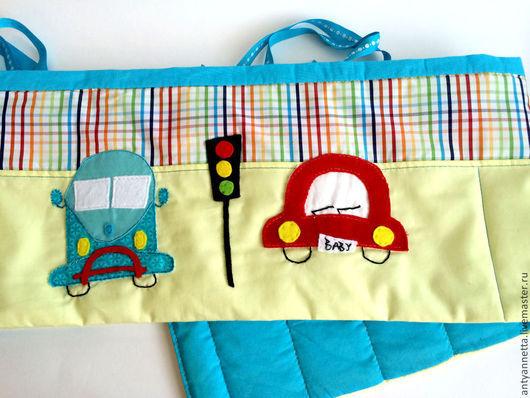 Пледы и одеяла ручной работы. Ярмарка Мастеров - ручная работа. Купить Бортики для детской кроватки. Handmade. Лимонный, бортики в кроватку