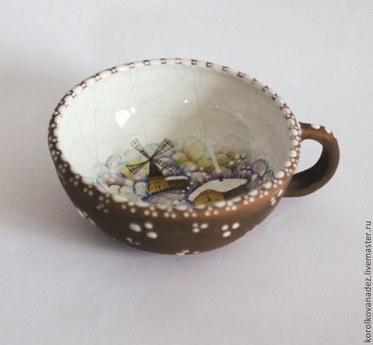 Кружки и чашки ручной работы. Ярмарка Мастеров - ручная работа. Купить Керамическая кружка (майолика) Зимняя. Handmade. Керамика