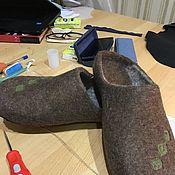 Обувь ручной работы. Ярмарка Мастеров - ручная работа Микс тапочки без пятки. Handmade.