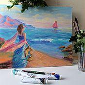 handmade. Livemaster - original item The picture sea oil. Handmade.