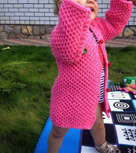 """Одежда для девочек, ручной работы. Ярмарка Мастеров - ручная работа. Купить Кардиган детский """"Соты"""". Handmade. Розовый, кардиган на пуговицах"""