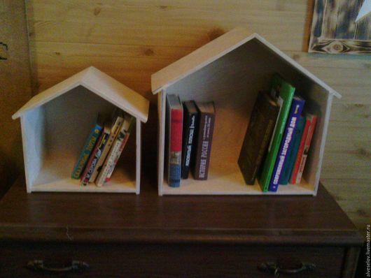 Детская ручной работы. Ярмарка Мастеров - ручная работа. Купить Домик-полка для книг. Handmade. Бежевый, хандмейд