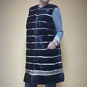 Одежда ручной работы. Ярмарка Мастеров - ручная работа Длинный жилет из норки. Handmade.