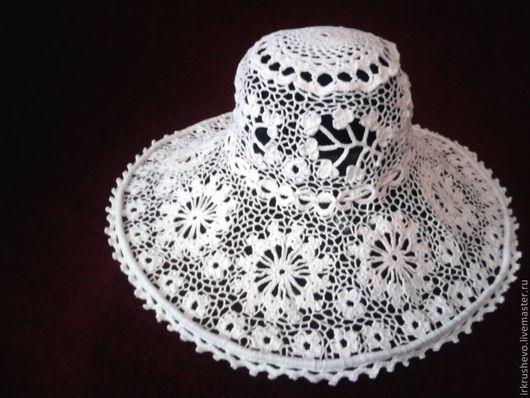 """Шляпы ручной работы. Ярмарка Мастеров - ручная работа. Купить Ирландское кружево. Шляпка """"Море зовет!"""". Handmade. Белый"""