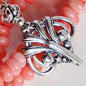 Украшения handmade. Livemaster - original item Necklace of coral in silver pendant Vintage. Handmade.