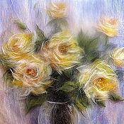 Картины и панно handmade. Livemaster - original item Picture of wool Sun Rose.. Handmade.