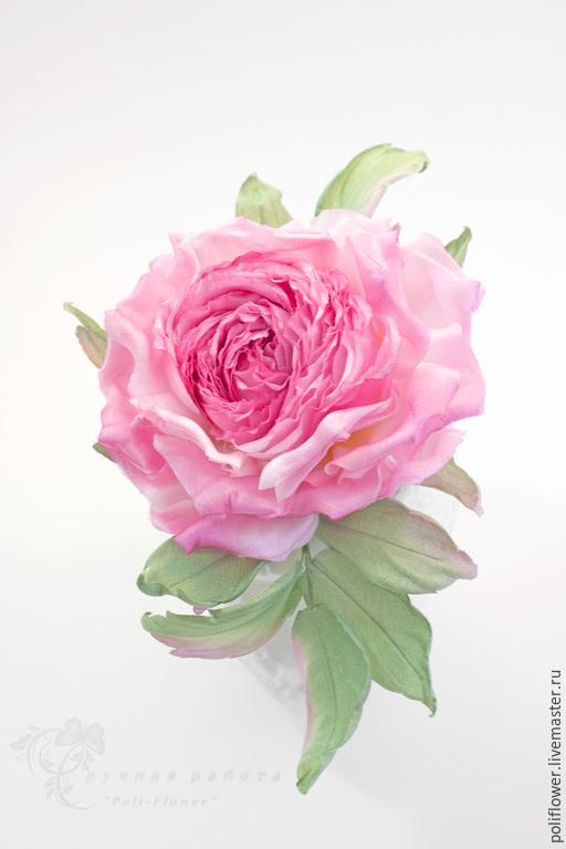 """Броши ручной работы. Ярмарка Мастеров - ручная работа. Купить Роза """"Magnifico"""". Натуральный шелк.. Handmade. Розовый, брошь из ткани"""