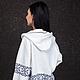 Фото сделано на  модели XS  Цвет: белый, с темно-синим орнаментом  Артикул: LW-JMW14-W964