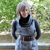 Одежда handmade. Livemaster - original item Felted vest Jeans. Handmade.