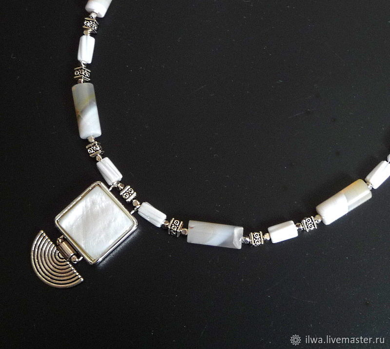 Necklace with pearl pendant, Necklace, Moscow,  Фото №1