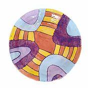 Посуда handmade. Livemaster - original item Plates: Deep painted plate. Handmade.