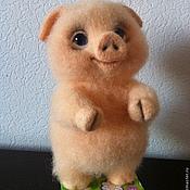 Куклы и игрушки ручной работы. Ярмарка Мастеров - ручная работа Валяная игрушка  Поросенок. Handmade.