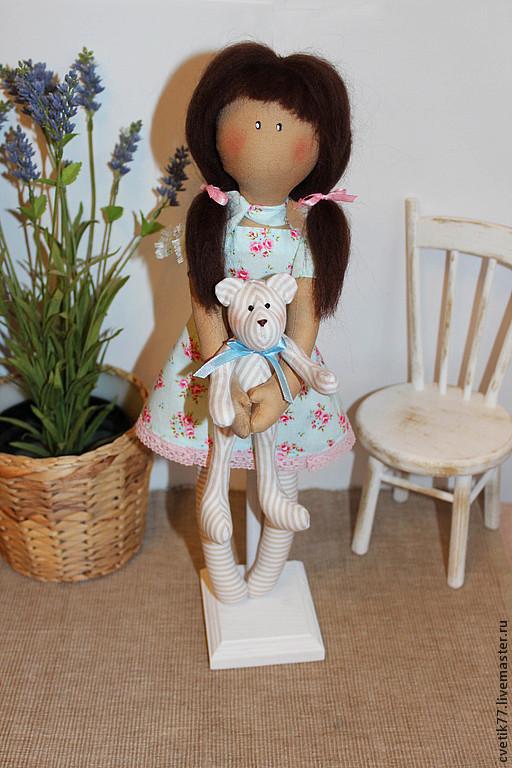 Коллекционные куклы ручной работы. Ярмарка Мастеров - ручная работа. Купить Кукла Анюта.. Handmade. Интерьерная кукла, авторская кукла