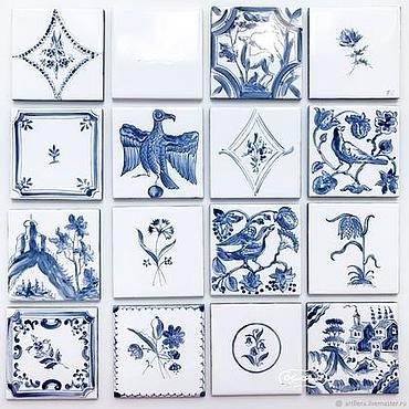 Diseño y publicidad manualidades. Livemaster - hecho a mano Painting tiles Russian tiles. Handmade.