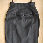юбка карандаш с завышенной талией