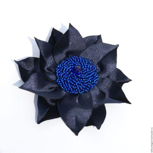 """Броши ручной работы. Ярмарка Мастеров - ручная работа. Купить Подсолнух """"Милори"""" (Sunflower """"Milori""""). Handmade. Черный, брошь-цветок"""